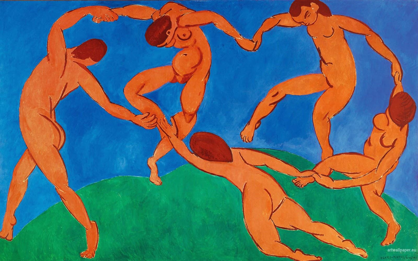 Henri Matisse, la Danza, 1910, Museo dell'Ermitage, San Pietroburgo