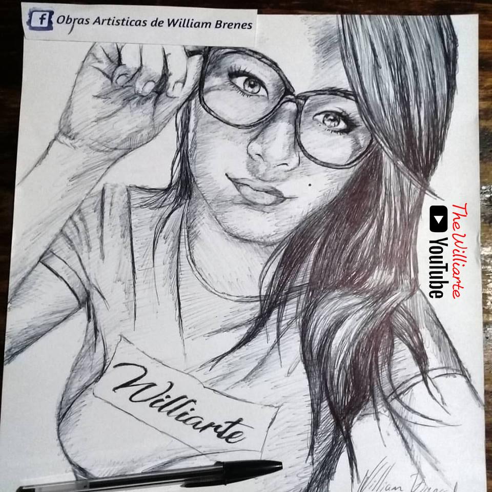 Dibujo, Retrato con Bolígrafo